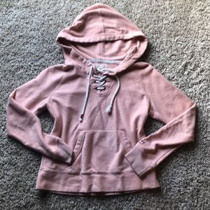 💓Hollister pink lace hoodie!!💓💓